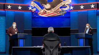 Une répétition du débat présidentiel, le 28 septembre 2020, à Cleveland (Etats-Unis). (SAUL LOEB / AFP)