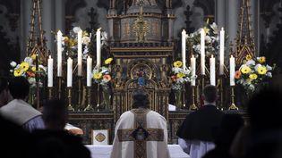 L'intérieur de l'église Marie immaculée de Nancy (photo d'illustation). (ALEXANDRE MARCHI / MAXPPP)