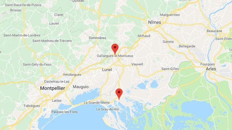 En fuite après avoir créé un accident, un homme estmort en tentant de forcer un barrage de la gendarmerie près de Nîmes. (CAPTURE ECRAN/GOOGLE MAPS)