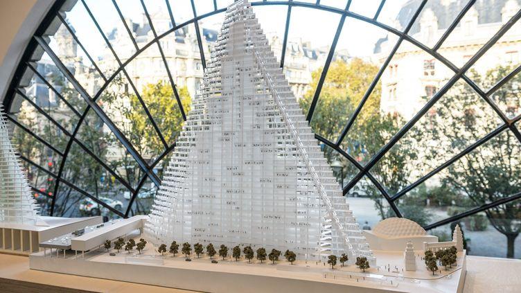 Le projet de la tour Triangle est présenté à Paris, le 30 octobre 2014. (MAXPPP)