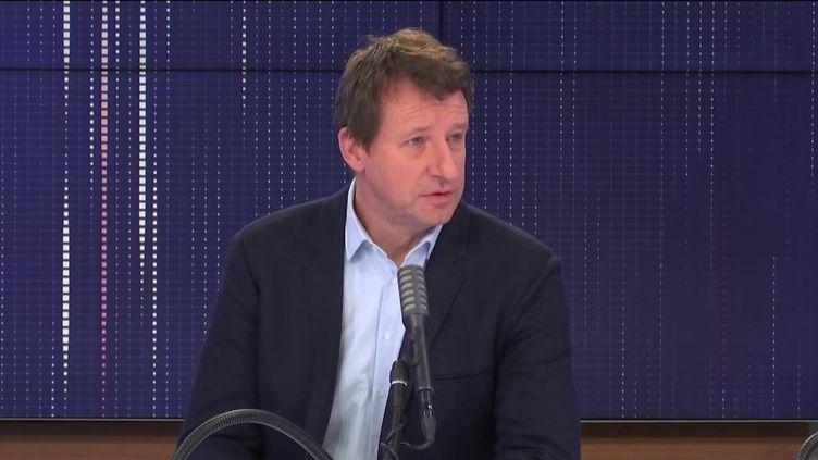 """Yannick Jadot, député européen Europe Écologie-Les Verts, était l'invité du """"8h30 franceinfo"""", mercredi 10 février 2021. (FRANCEINFO / RADIOFRANCE)"""