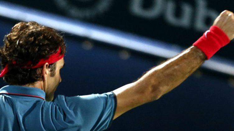 Roger Federer (Dubaï) (KARIM SAHIB / AFP)