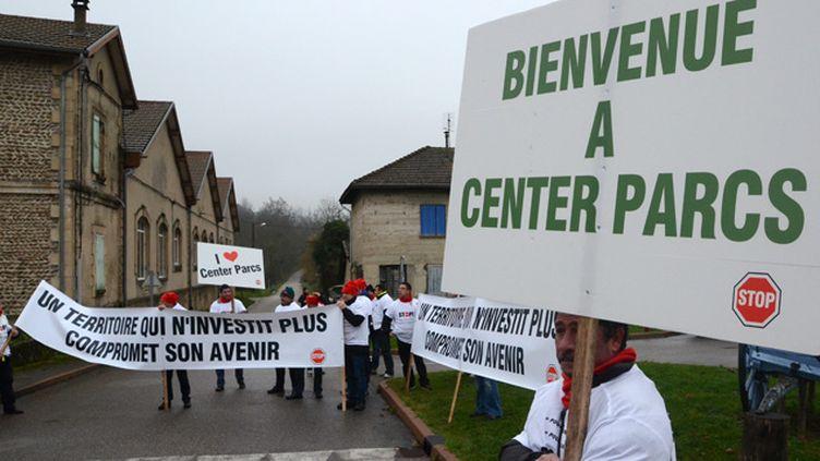 (Manifestation pro-Center Parcs à Roybon le 7 décembre dernier © Maxppp)
