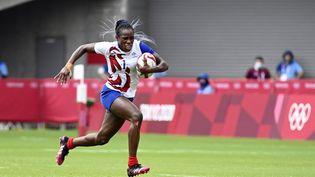 La Française Séraphine Okemba contre les Fidji lors des Jeux olympiques de Tokyo, le jeudi 29 juillet 2021. (HERVIO JEAN-MARIE / KMSP)