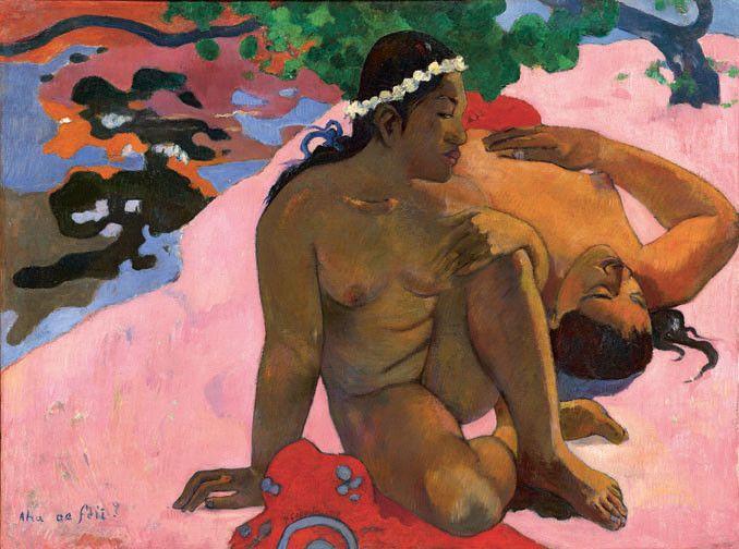 """Paul Gauguin, """"Ahaoe feii ? (Eh quoi ! Tu es jalouse ?)"""", 1892 Moscou, musée d'État des Beaux-Arts Pouchkine  (The Pushkin State Museum of Fine Arts, Moscou)"""