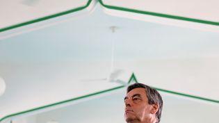 François Fillon, le 13 février 2017 à Saint-Denis de La Réunion. (RICHARD BOUHET / AFP)