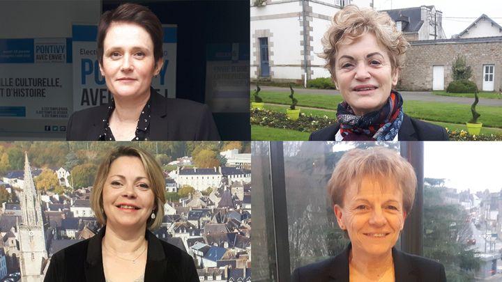 De gauche à droite et de haut en bas :Soizic Perrault, Marie-Madeleine Doré-Lucas, Gaëlle Le Roch, Christine Le Strat. (SÉBASTIEN BAER / RADIO FRANCE)