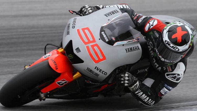 Jorge Lorenzo au guidon de sa Yamaha