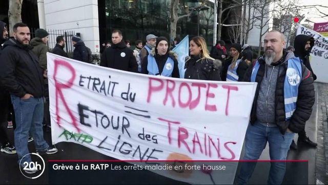 Grève à la RATP : les arrêts maladie en très forte hausse