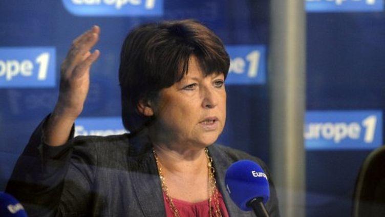 Martine Aubry, sur Europe 1, le 16 août 2011 (BERTRAND GUAY / AFP)