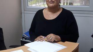Radija Amraoui, au centre d'accueil des demandeurs d'asile, à Montigny-les-Cormeilles (Val-d'Oise). (JÉRÔME JADOT / RADIO FRANCE)