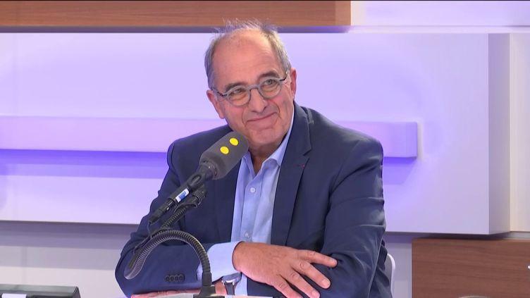 Jean-Pierre Mas, président des Entreprises du voyage, le 21 mai 2019. (RADIO FRANCE / FRANCEINFO)