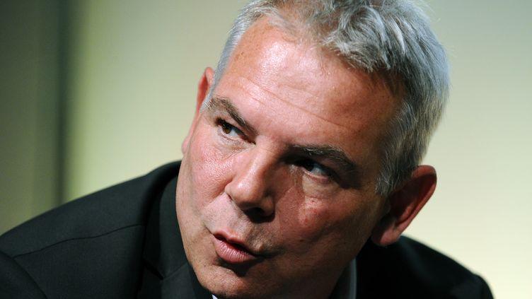 Le secrétaire général de la CGT, Thierry Lepaon, le 9 octobre 2014 à Bordeaux (Gironde). (NICOLAS TUCAT / AFP)