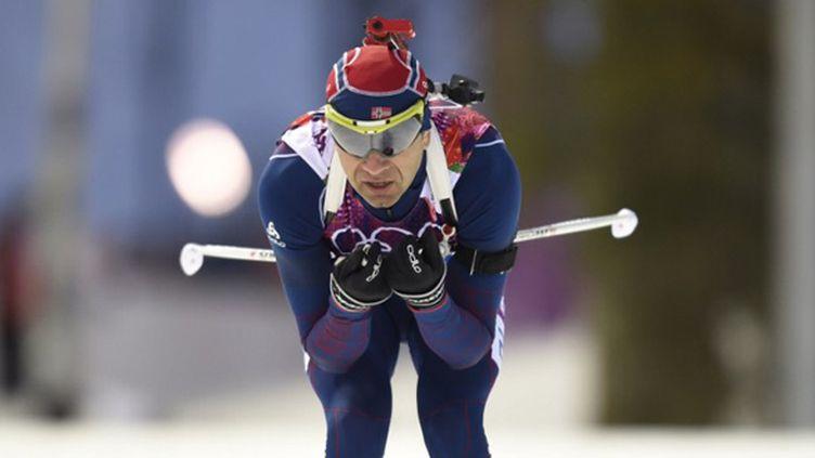Ole Einar Bjoerndalen a survolé le sprint aux JO de Sotchi (ODD ANDERSEN / AFP)