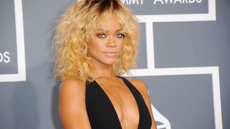 La chanteuse Rihanna, le 12 février aux Grammy Awards, à Los Angeles. (GETTY IMAGES NORTH AMERICA / AFP)