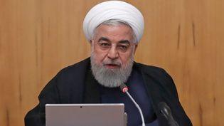 Le président iranien Hassan Rohani lors du conseil des ministres du 18 septembre 2019, à Téhéran. (HO / IRANIAN PRESIDENCY / AFP)