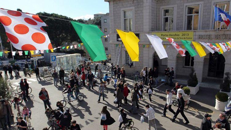 La ville Porto-Vecchio est prête à accueillir la Grande Boucle (PASCAL POCHARD-CASBIANCA / AFP)