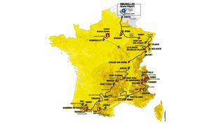 Le tracé de l'édition 2019 du Tour de France. (ASO / FRANCETV SPORTS)