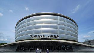 Le Scottish Event Campus à Glasgow (Écosse) qui sera l'un des lieux d'accueil de la COP 26, la Conférence des parties des Nations Unies sur le changement climatique. (ANDREW MILLIGAN / MAXPPP)