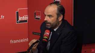 Edouard Philippe sur France Inter, le 5 avril 2018. (FRANCE INTER / RADIO FRANCE)