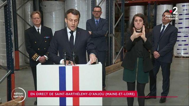 Coronavirus : Emmanuel Macron s'exprime en direct sur la pénurie de masques
