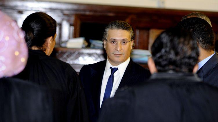 Nabil Karoui, le 17 novembre 2011, à Tunis. (FETHI BELAID / AFP)