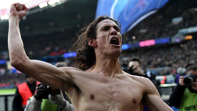 Edinson Cavani, meilleur buteur du PSG (FRANCK FIFE / AFP)