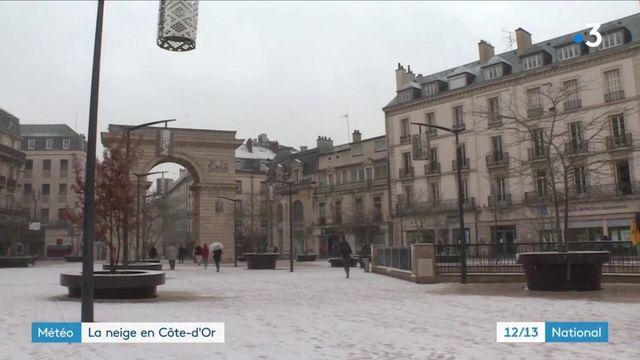 Intempéries : la neige s'empare de la Côte-d'Or