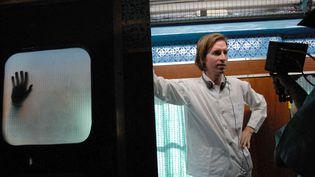 """Wes Anderson sur le tournage du film """"A bord du Darjeeling Limited"""" en 2007 (ARCHIVES DU 7EME ART)"""