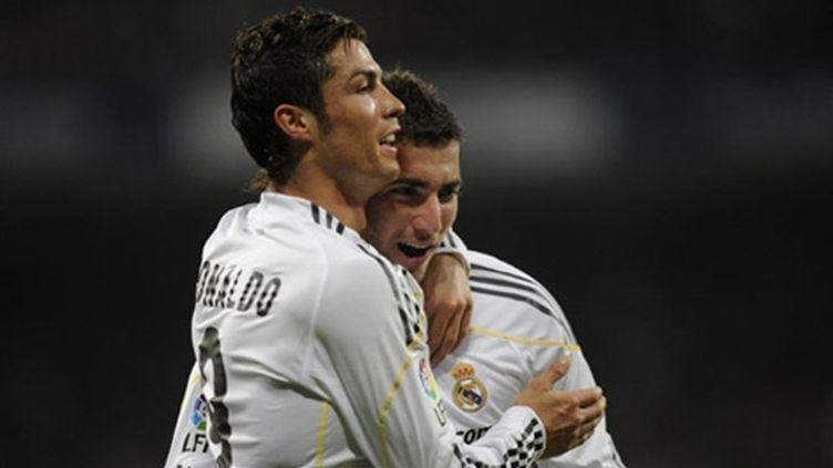 Le duo offensif du Real Madrid Cristiano Ronaldo-Higuain