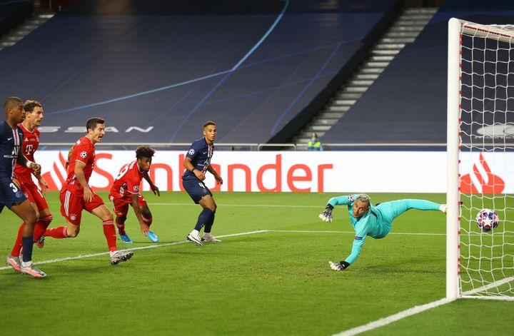 Kingsley Coman (Bayern Munich) crucifie le PSG en finale de Ligue des champions (JULIAN FINNEY - UEFA / HANDOUT / ANADOLU AGENCY)