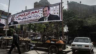 La campagne pour l'élection présidentielle a commencé samedi 24 février 2018 en Égypte, comme ici au Caire. (KHALED DESOUKI / AFP)