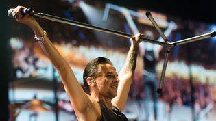 Dave Gahan sur scène avec Depeche Mode en Pologne en février 2014.  (Grzegorz Michalowski/EPA/MaxPPP)