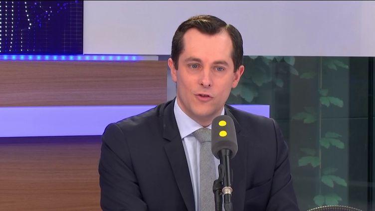 Nicolas Bay, secrétaire général du Front national, invité de franceinfo le 19 mai 2017. (FRANCEINFO)