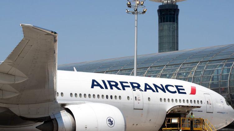 Un avion Air France sur le tarmac de l'aéroport de Roissy-Charles-de-Gaulle, le 27 juin 2019. (JOEL SAGET / AFP)