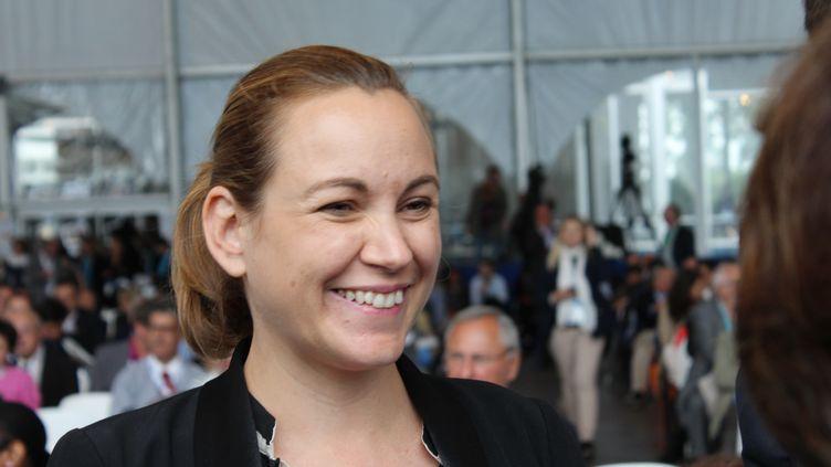 La secrétaire d'Etat au Numérique, Axelle Lemaire, assiste à l'université d'été du Medef, à Jouy-en-Josas (Yvelines), le 27 août 2015. (CITIZENSIDE/PAUL-MARIE GUYON / CITIZENSIDE.COM)