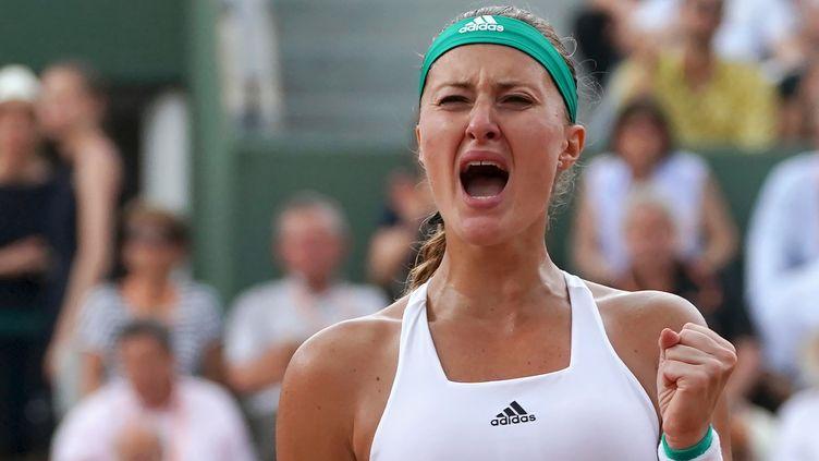La numéro un française Kristina Mladenovic. (GABRIEL BOUYS / AFP)