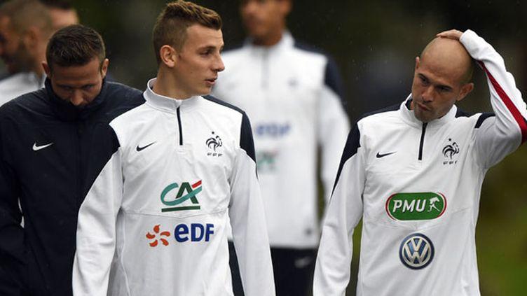 Lucas Digne et Christophe Jallet, deux latéraux de l'équipe de France