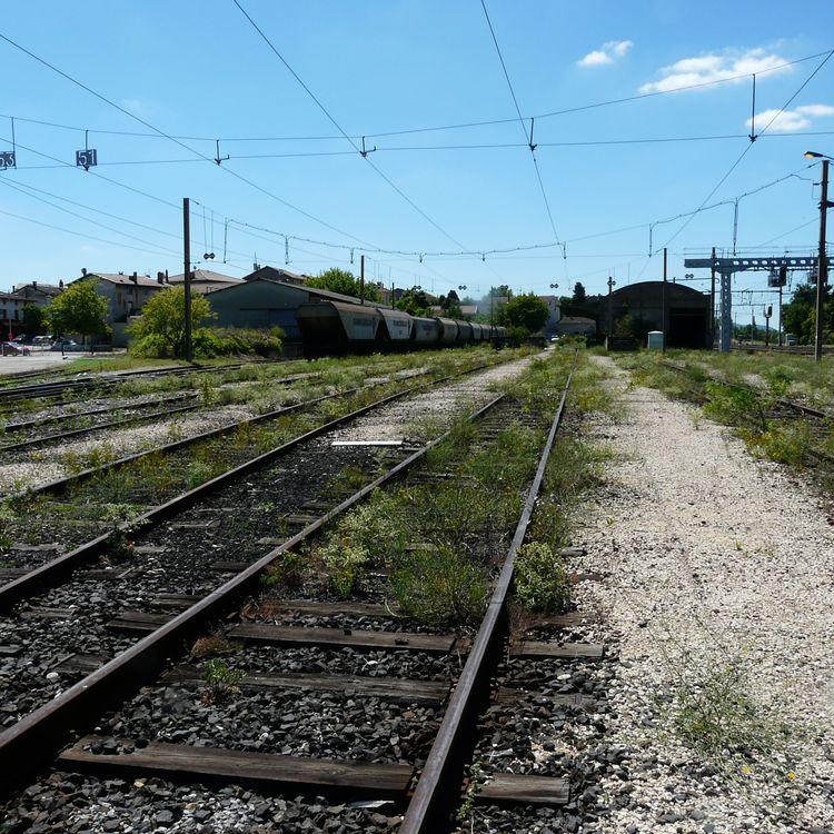Les voies de service de la gare de Saint-Rambert-d'Albon, dans la Drôme. ( FRANCE 3 AUVERGNE / FRANCETV INFO)