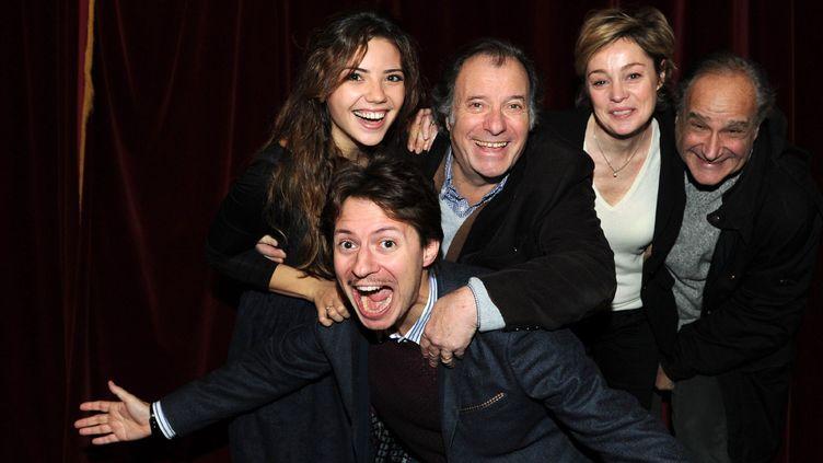 """La troupe de comédiens de """"Sans Rancune"""", au milieu : Daniel Russo  (DELALANDE/SIPA)"""