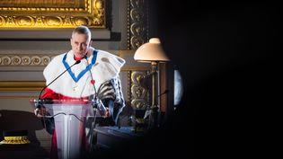 François Molins, procureur général près la Cour de cassation, lors de l'audience solennelle de début d'année judiciaire en 2018. (ALEXIS SCIARD  / MAXPPP)