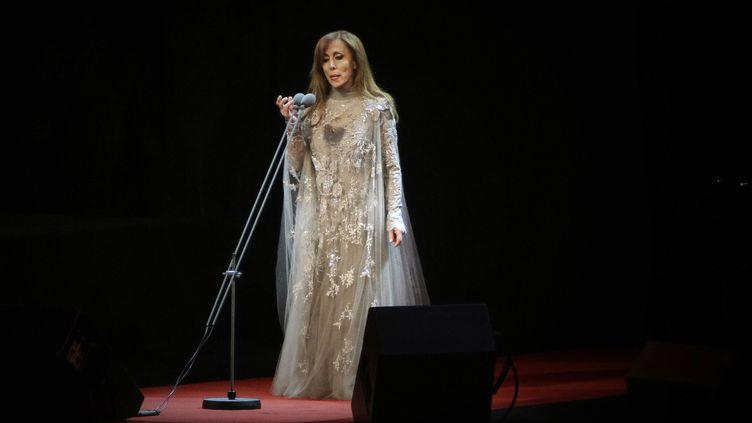 La chanteuse libanaise Fairouz lors d'un concert à Beyrouth en octobre 2010. (JOSEPH EID / AFP)