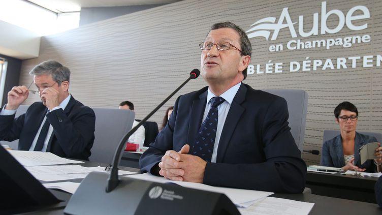 Philippe Pichery, le président DVD du conseil départemental de l'Aube, le 23 mai 2017. (J. BRULEY / MAXPPP)