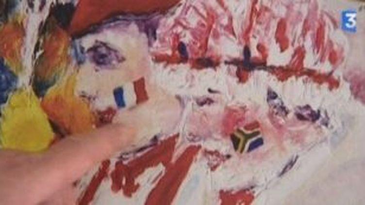 Régis Rigaux, un peintre lommois au Mondial de Foot  (Culturebox)