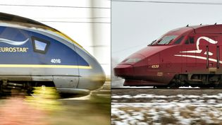 En 2018, Eurostar a transporté 11 millions de voyageurs et Thalys 7,5 millions. (PHILIPPE HUGUEN / AFP)