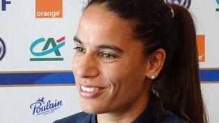 Amel Majri, joueuse de l'équipe de France féminine de football. (BRUNO SALOMON / FRANCE-BLEU PARIS)