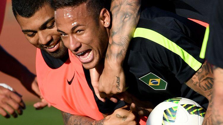 Neymar à l'entraînement (EVARISTO SA / AFP)