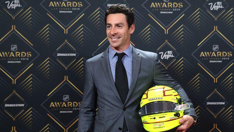 Simon Pagenaud, pilote Indycar.Le français a remporté en 2019 pour la troisième fois de sa carrière le Grand Prix d'Indianapolis. (BRUCE BENNETT / GETTY IMAGES NORTH AMERICA)