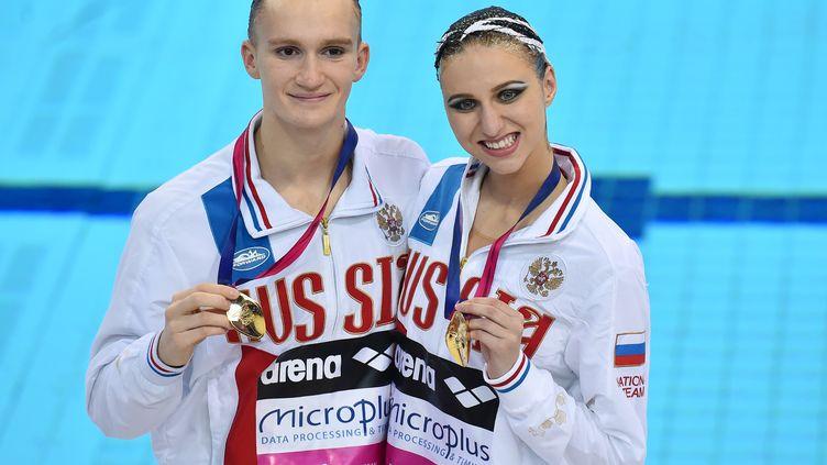 Aleksandr Maltsev et Mikhaela Kalancha (BEN STANSALL / AFP)