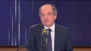"""Noël Le Graët, président de la Fédération française de football, invitée du """"8.30 franceinfo"""", mardi 10 sepembre 2019. (FRANCEINFO / RADIOFRANCE)"""